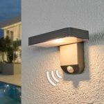 Sensorstyret LED solcellelampe Maik, vægmontering