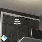 Kontor LED gulvlampe Jolinda, CCT, med sensor