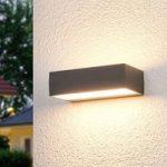 Lissi – firkantet LED-udendørsvæglampe