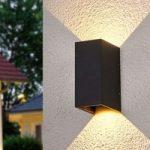 LED-udendørs væglampe Kimian, lys til begge sider