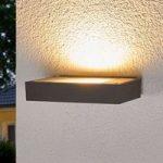 Mørkegrå LED-uplight-lampe Finja til udendørs