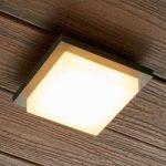Kvadratisk LED-udendørsvæglampe Joschi