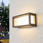 Aurelien – udendørs væglampe med grå ramme