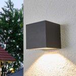 Merjem – LED udendørs væglampe i mørkegrå