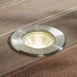 LED-nedgravningsspot Sanna rustfrit stål IP67 rund