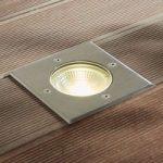 LED-nedgravningsspot Sanna rustfrit stål IP67 kant