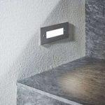 LED-vægindbygningslampe Roni, rustfrit stål, 12 cm