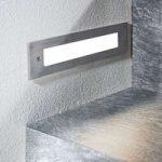 LED-vægindbygningslampe Roni, rustfrit stål, 27 cm