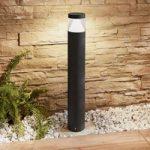 LED-pullertlampe Darja, mørkegråt aluminium, 80cm