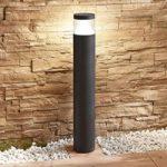 LED-pullertlampe Darja, mørkegråt aluminium, 100cm