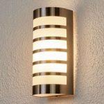 Dekorativ udendørsvæglampe Alvin i rustfrit stål