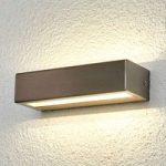Patricia – retlinet LED-udendørslampe, rustfr.st.