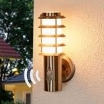 Selina – sensor udendørsvæglampe med gitter