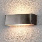 LED-udendørsvæglampe Alicja af rustfrit stål