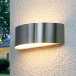 Udendørsvæglampen Nadia i rustfrit stål med LED'er