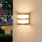 Lucja – LED-udendørsvæglampe med striber