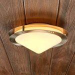 Udendørsloftslampe Reneas af rustfrit stål