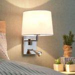 Væglampe Bent med læselampe