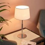 Maive – bordlampe med stofskærm