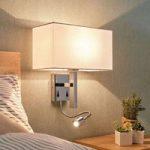 Læsearm væglampe Pelto med to kontakter