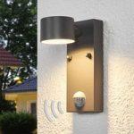 Sensor udendørsvæglampen Lexi med LED´er