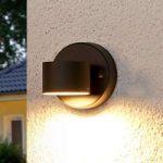 Grafitgrå LED-udendørsvæglampe Lexi