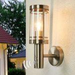 Sensor væglampe Djori til udendørs, rustfrit stål