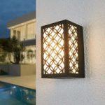 Kubikformet LED udendørs væglampe Noranna