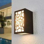 Mønstret LED udendørs væglampe Semina