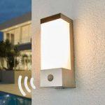 LED udendørs væglampe Severina med sensor