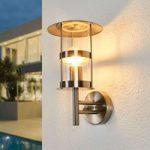 Udendørs væglampe Noemi i rustfrit stål