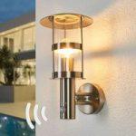 Udendørs væglampe Noemi, rustfrit stål, sensor