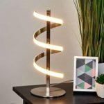 Spiralformet LED-bordlampe Pierre