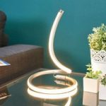 LED bordlampe Sena i buet design
