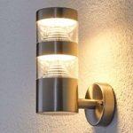 Lanea – LED-udendørs væglampe i ædelstål