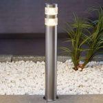 Lanea – ædelstål gadelampe med LED´er, 60cm