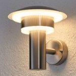 Lillie – dekorativ LED-udendørsvæglampe, ædelstål