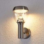 Etta – LED-udendørs væglampe i ædelstål