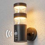 Sensor udendørsvæglampe Lanea med LED