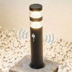 LED-sokkellampen Lanea af rustfrit stål med sensor