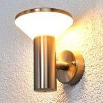 Tiga udendørsvæglampe i rustfrit stål med LED'er