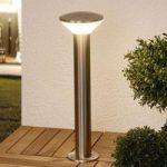 Tiga moderne LED-sokkellampe i rustfrit stål