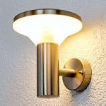 Jiyan udendørsvæglampe i rustfrit stål med LED'er