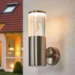 LED-udendørsvæglampe Belen med luftbobledekorering