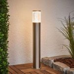 Sokkellampe Belen af rustfrit stål med LED'er