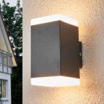 Hedda – kantet LED-udendørsvæglampe