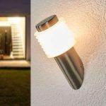 Skrå væglampe Roxy med LED i rustfrit stål