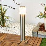 LED sokkellampe Roxy med lamelskærm