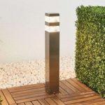 Firkantet LED vejlampe Sinja i rustfrit stål