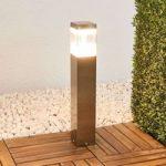 Sokkellampe Baily med LED'er, rustfrit stål